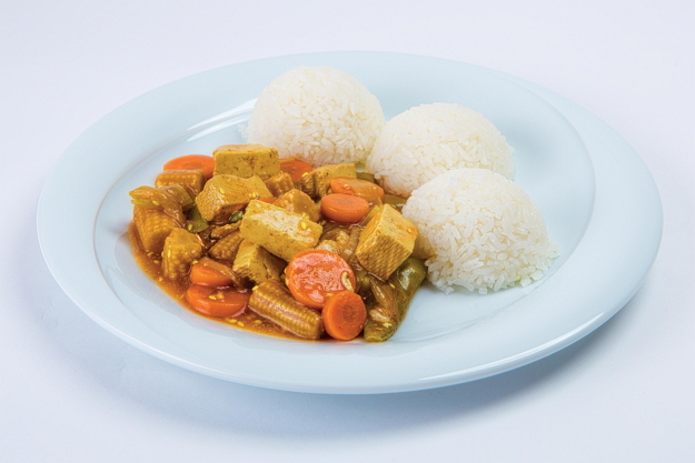 zeleninový wok s tofu