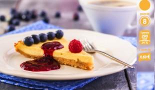 tofu Cheesecake recept s ovocím bez mlieka