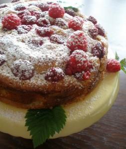 malinovo-citronovy ovocný koláč