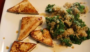 Medovo zázvorové tofu